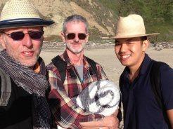 With Simon at San Gregorio Beach