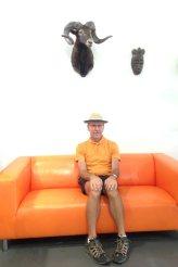 Everyone needs a tangerine sofa, no?