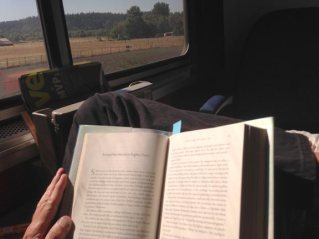 Reading on the train is one of the great pleasures of life.