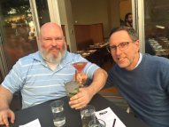 Andro and I at South Park happy hour.
