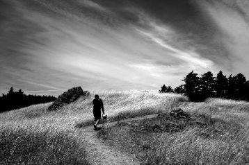 Chuan on a mini-hike on Mt. Tamalpais.