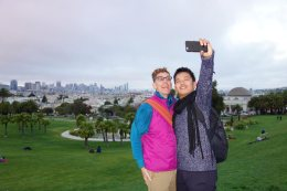 at Dolores Park with Tom