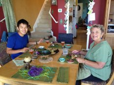 Chuan and Jean at lunch