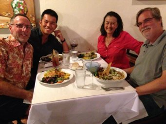 dinner with Zoe & Andy at Wild Garlic Grill