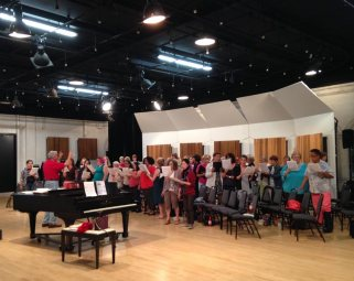 The women rehearsing Holst's The Planets with the chorus. Monday night chorus is the highlight of my week. And maybe Chuan's as well.
