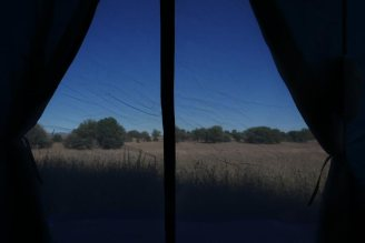 tent view of the meadow