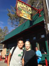with Trish in Flagstaff at Macy's Coffee House