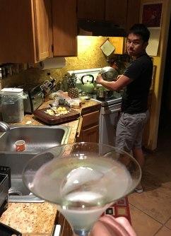 I drink. He cooks. Nice arrangement