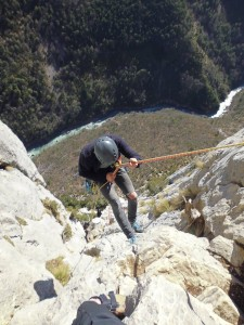 Rappelling into the Gorge