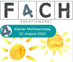 fach4 Kreativmarkt – Kleiner Marktsamstag am 22.08.2020