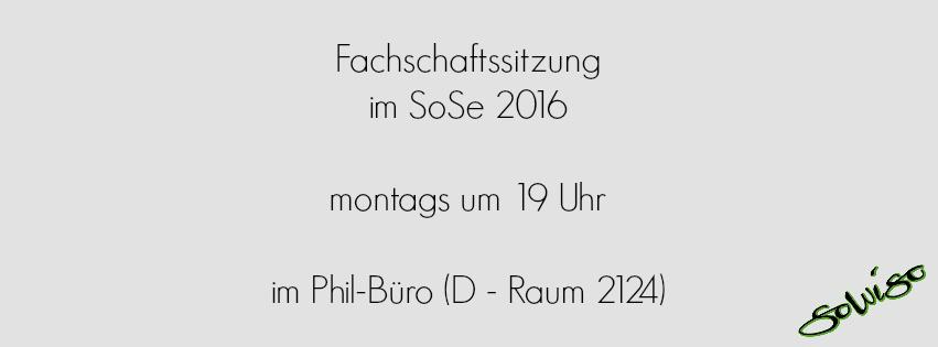 Fachschaftssitzung im SoSe 2016