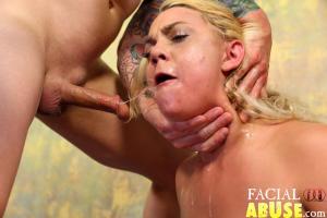 Fake Blonde Cunt Destroyed On FacialAbuse