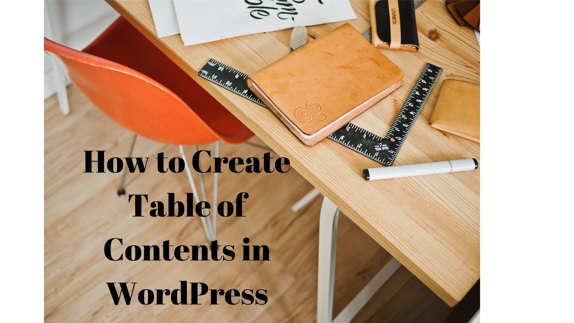 table of content how to create