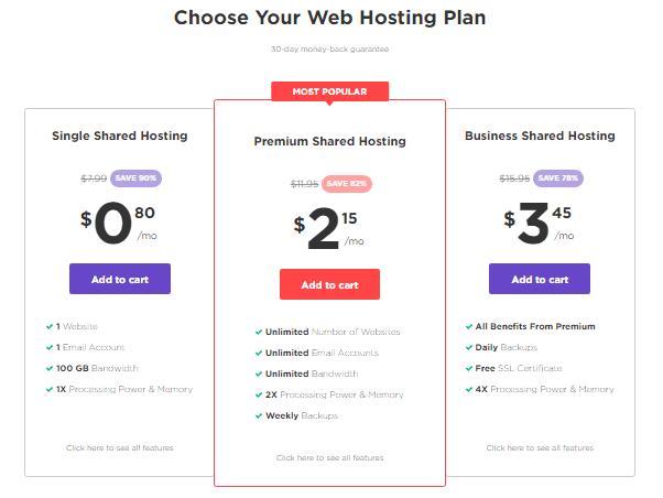 Hostinger best cheap web hosting plans