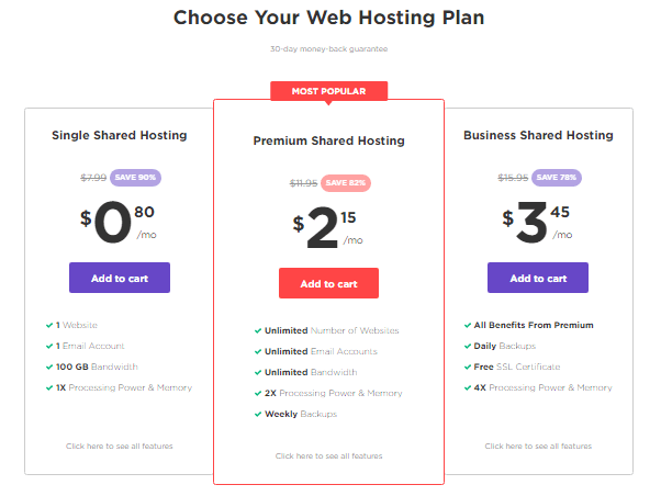 Hostinger web hosting plans Best cheap web hosts