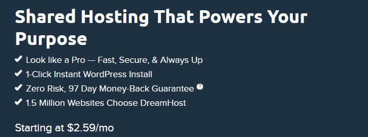 Dreamhost shared hosting Best cheap web hosts