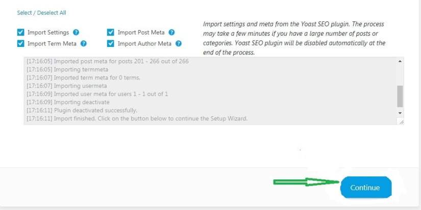 SEO Setting Import from Yoast