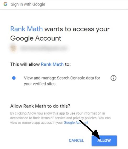 Google verification with Rank Math