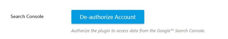 Search console authorization