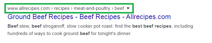 Google loves breadcrumbs