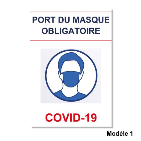 Affichette Port Du Masque Obligatoire Imprimer En Ligne Facimprimeur Fr