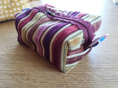 boxy pouch with liberty alexandra lining