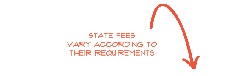 state fees vary according to their requirements
