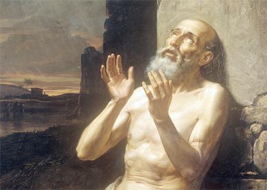 biblical Job praying