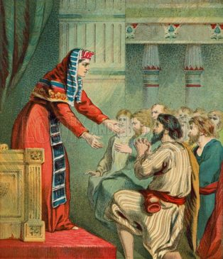 Joseph receiving his brothers in Egypt