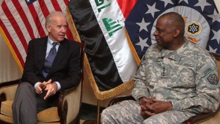 Lloyd Austin with Joe Biden