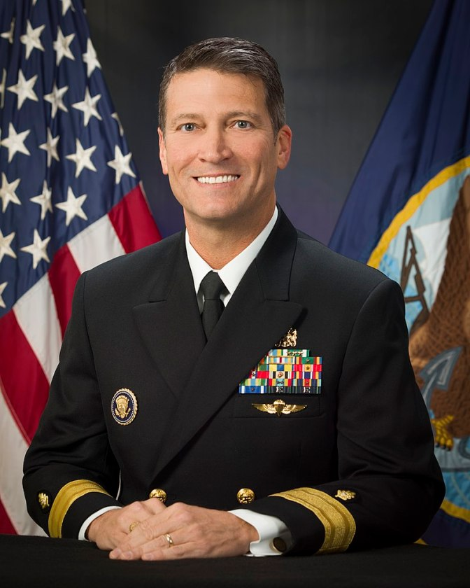 Rear Admiral Ronny Jackson while serving as physician to the President, in October 2016.