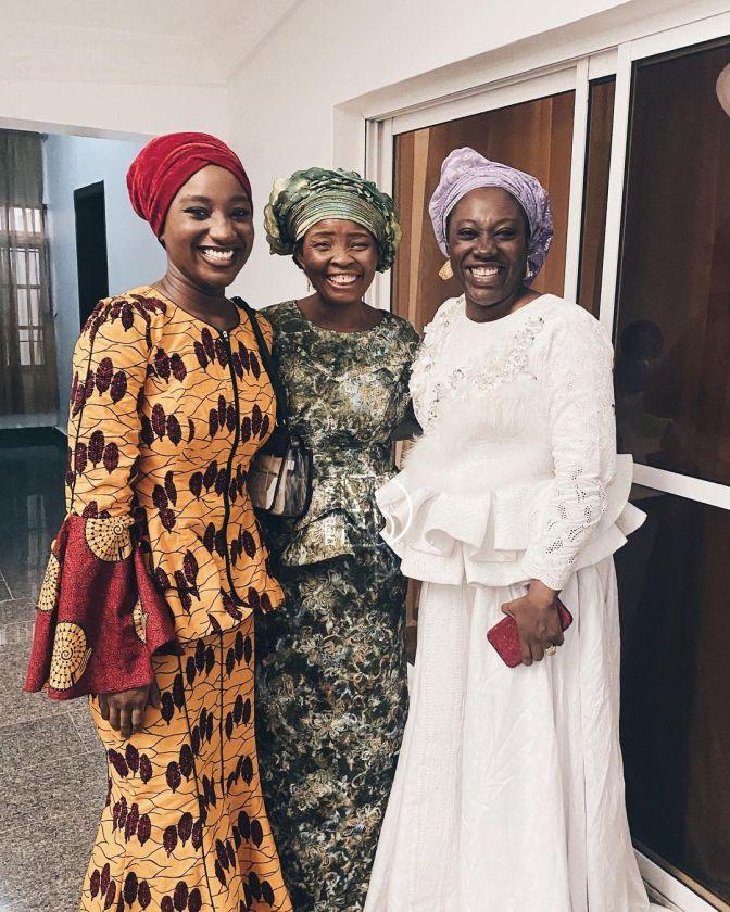 Deborah Paul Enenche, mum Becky Enenche and Mrs Faith Oyedepo
