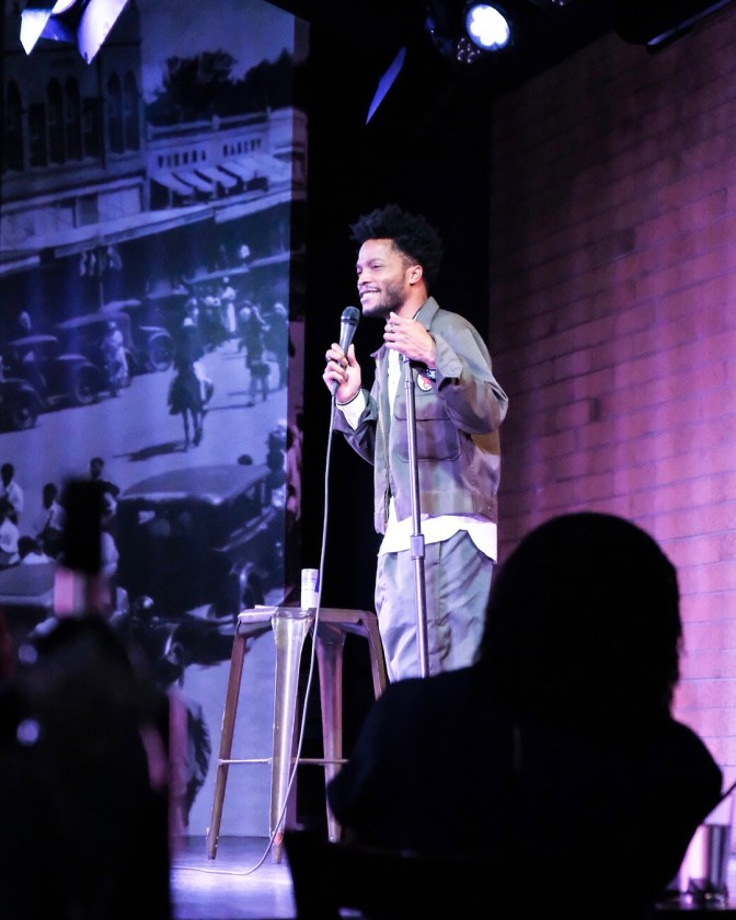 Jermaine Fowler in one of his stand up comedy shows