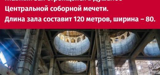 Неправда | Около 100 тысяч человек одновременно сможет вместить один только главный зал строящейся в Душанбе центральной соборной мечети