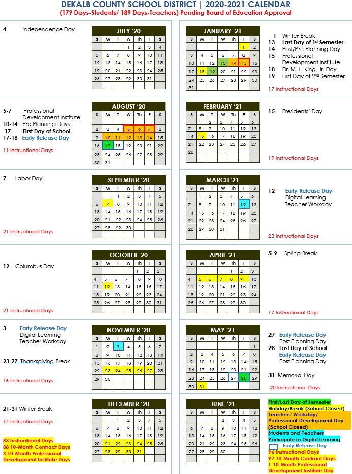 Photos of Dcsd Calendar 2021-2022