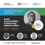 Ezekwesili leads Daily Trust, BudgIt, CDD bosses to headline ICIR, ICFJ Knight Fellowship webinar on misinformation