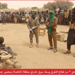 Photo shared by Nnamdi Kanu, not of ISWAP, Boko Haram in Nigeria