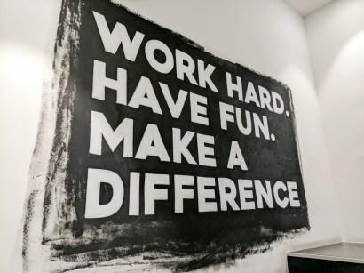 Work hard. Have fun. Make a difference. Global Fact 4 conference, Madrid, Spain. #GlobalFact4 @factchecknet @Poynter @ReportersLab (c) Allan LEONARD @MrUlster