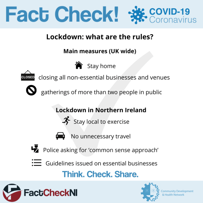 What Are The Rules Of Lockdown In Northern Ireland Factcheckni