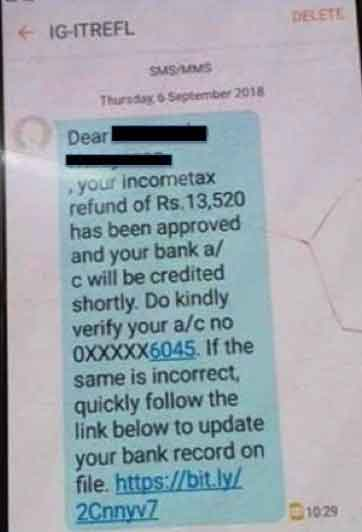 Fact Check: Whatsapp Fake Message On Income Tax Refund