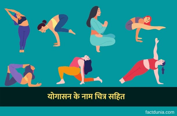 100 योगासन के नाम चित्र सहित – Yogasan Name in Hindi English Sanskrit with Pictures