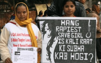 Rape protests in India