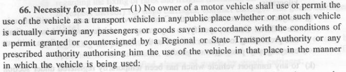Taxi Fare rules in India - 1