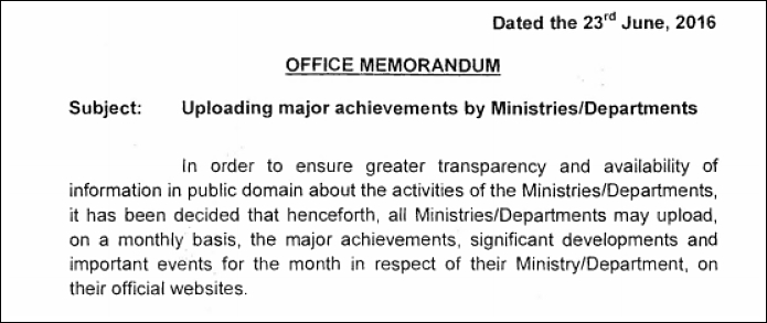 government monthly progress reports_office memo