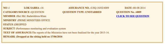 Assurance PMO (16th Lok Sabha)