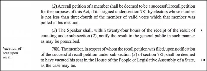 interesting Private Member bills_recall of elected representatives