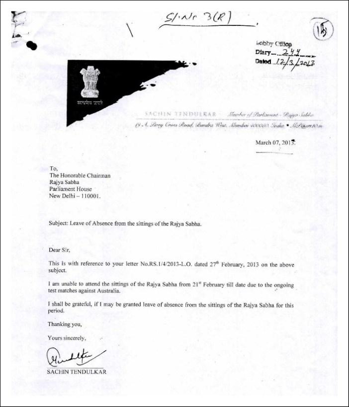 Sachin Rajya sabha_letter 1