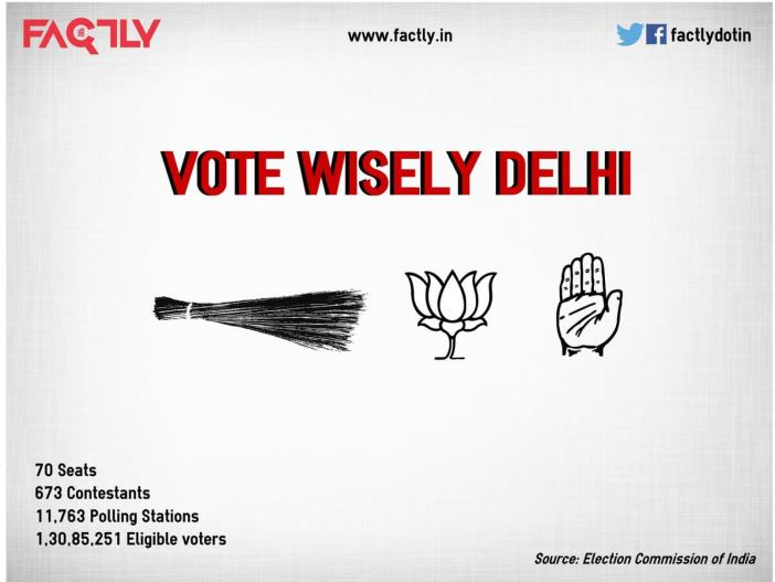 Vote Wisely Delhi Assembly Elections 2015 - Infographic
