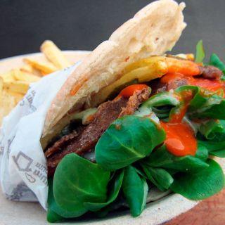 Döner kebab vegano
