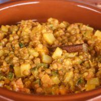 Lentejas estilo hindú con curry